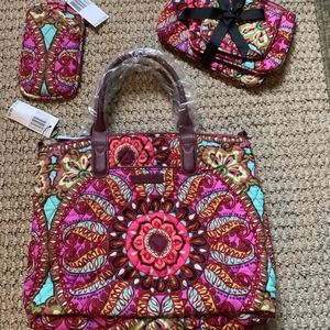 Vera Bradley Resort Medallion 3 Piece Set - NWT